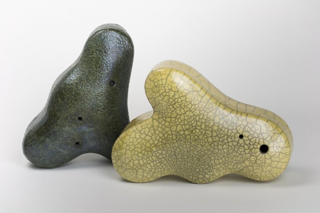 Raku sculptures by Lynn Dee